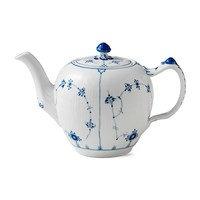 Blue Fluted plain teekannu sininen 100 cl
