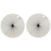 OYOY pyöreä pöytätabletti, 2 kpl valkoinen, mustat raidat