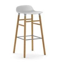 Form Chair baarijakkara Jalat tammea valkoinen, Normann Copenhagen