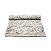 Leather matto 60 x 90 cm beige