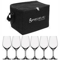 Expert-viinilasikassi, musta, sis. 6 viinilasia kirkas