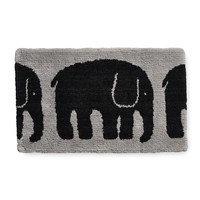 Elefantti kylpyhuoneenmatto Musta - Harmaa