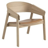 Cover lounge chair leather Konjakki-tammi