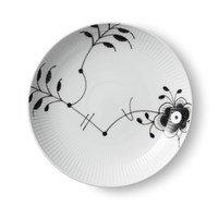 Musselmalet mega – musta moderni lautanen Ø 20 cm