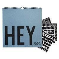 Design Letters -seinäkalenteri 2020 Sininen
