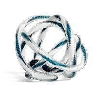Knot No 2 L -lasiveistos Teal-white, Hay
