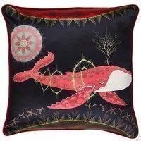 Klaus Haapaniemi Cosmic Whale with Red Planet tyynynpäällinen, silkki