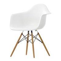 Vitra Eames DAW tuoli, valkoinen - vaahtera