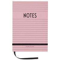 Design Letters Muistikirja, vaaleanpunainen