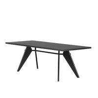 Vitra Em Table 200 x 90 cm, asphalt - musta