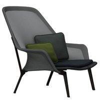 Vitra Slow Chair, musta - suklaanruskea