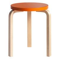 Artek Aalto jakkara 60, oranssi - koivu