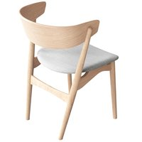 Sibast No 7 tuoli, saippuoitu tammi - harmaa kangasverhoilu