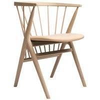 Sibast No 8 tuoli, saippuoitu tammi - hunajanvärinen nahka