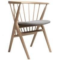 Sibast No 8 tuoli, saippuoitu tammi - harmaa kangasverhoilu