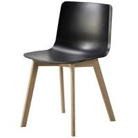 Fredericia Pato tuoli, puiset jalat, musta - lakattu tammi