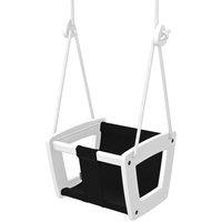 Lillagunga Lillagunga Toddler keinu, valkoinen - musta istuin