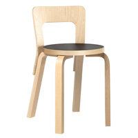 Artek Aalto tuoli 65, koivu - musta linoleum