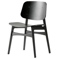 Fredericia Søborg tuoli 3050, puurunko, musta tammi