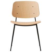 Fredericia Søborg tuoli 3060, musta teräsrunko, lakattu tammi
