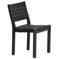 Artek Aalto tuoli 611, musta - musta satulavyö