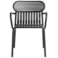 Petite Friture Week-end käsinojallinen tuoli, musta