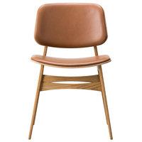 Fredericia Søborg tuoli 3052, puurunko, lakattu tammi - ruskea nahka