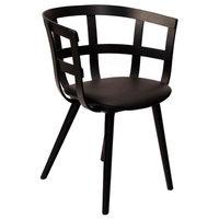 Inno Julie tuoli, mustaksi petsattu saarni - musta nahka