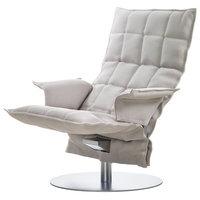 Woodnotes K tuoli käsinojilla, pyörivä, kitti/valkoinen