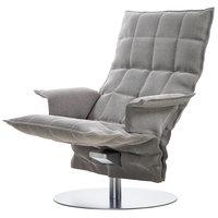 Woodnotes K tuoli käsinojilla, pyörivä, kitti/musta