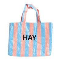 Hay Candy Stripe ostoskassi, M, sininen - oranssi
