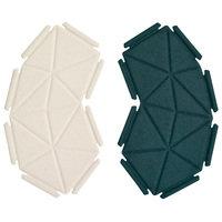 Kvadrat Clouds tekstiilielementit, 8 kpl, sinivihreä - valkoinen