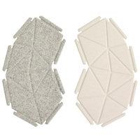 Kvadrat Clouds tekstiilielementit, 8 kpl, harmaa - valkoinen