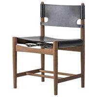 Fredericia The Spanish Dining Chair tuoli, musta nahka