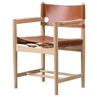 Fredericia The Spanish Dining Chair tuoli käsinojilla, konjakinruskea nahka