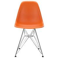 Vitra Eames DSR tuoli, rusty orange - kromi