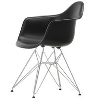 Vitra Eames DAR tuoli, deep black - kromi