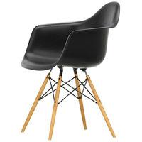 Vitra Eames DAW tuoli, deep black - vaahtera