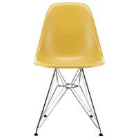 Vitra Eames DSR Fiberglass tuoli, light ochre - kromi
