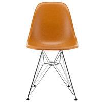 Vitra Eames DSR Fiberglass tuoli, dark ochre - kromi