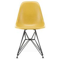 Vitra Eames DSR Fiberglass tuoli, light ochre - basic dark