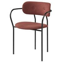 Gubi Coco tuoli käsinojilla, Jabana 1-3002-423 - mustat jalat