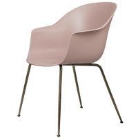 Gubi Bat tuoli, sweet pink - antiikkimessinkijalat