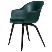 Gubi Bat tuoli, tummanvihreä - mustat pyökkijalat