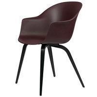 Gubi Bat tuoli, dark pink - mustat pyökkijalat
