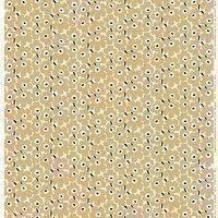 Marimekko Mini Unikko kangas, luonnonvalkoinen-beige-tummansininen