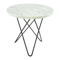 OX Denmarq Mini O pöytä, musta - valkoinen marmori