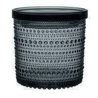 Iittala Kastehelmi purkki 116 x 114 mm, tummanharmaa