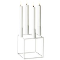 By Lassen Kubus 4 kynttilänjalka, valkoinen