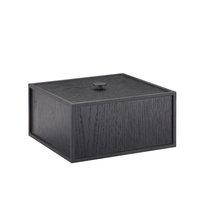 By Lassen Frame 20 laatikko, mustaksi petsattu saarni